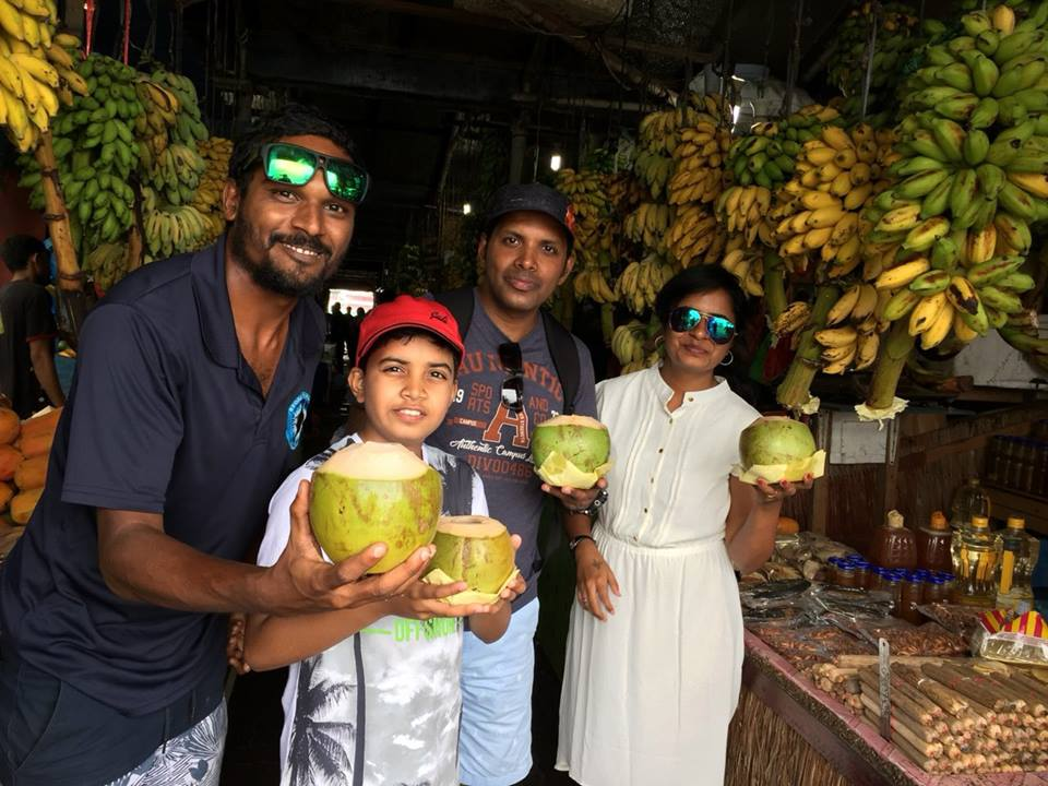 Today on the last day of their Beach Break tour, Kavitha and her family were happy to join strawwarsmv and enjoy a coconut the traditional way, drunk without the aid of a plastic straw